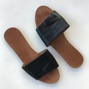 Madewell Women Sandals Black Leather Brown 8.5